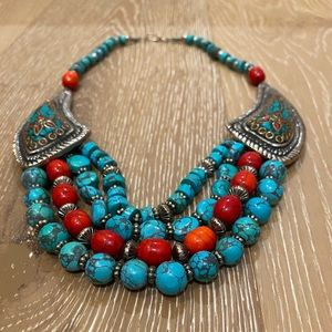 Jewelry - Turkish turquoise statement necklace